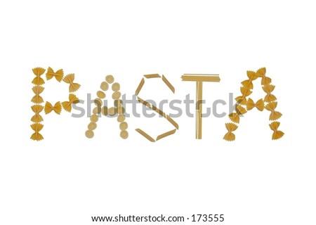 Pasta word - stock photo