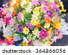 Pastel Artificial flowers for valentine or Loved ones - stock photo