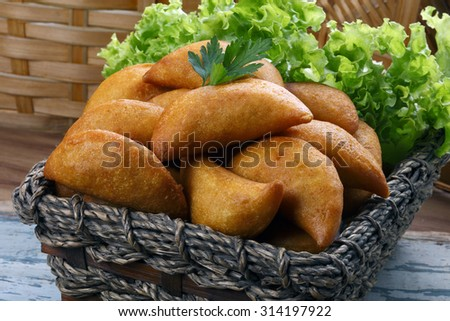 Pastel fried polenta - stock photo