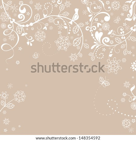 Pastel greeting card. Raster copy of vector image