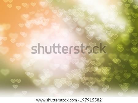 Pastel Heart Bokeh Abstract background