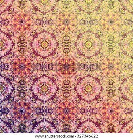 Pastel metallic oriental pattern, folk traditional elements. Royal texture for textile, wallpapers, advertisement, page fill, book covers etc. Boho-chic fabric background - stock photo