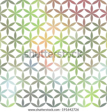 Pastel minimalistic background with geometric floral ornament. Raster version - stock photo