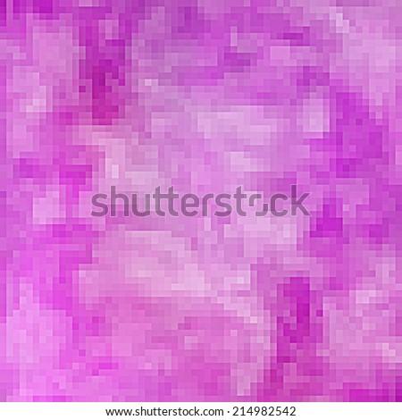 Pastel purple pixel background - stock photo