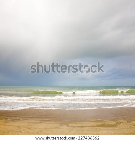 Pastel seascape light background - stock photo
