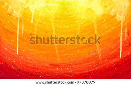 Pastel SunShine+Water Color - stock photo