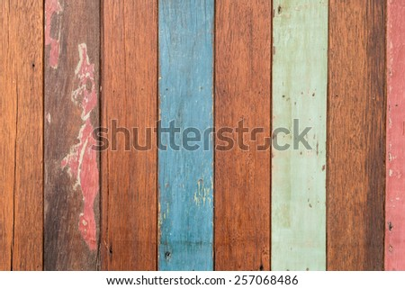 pastel wooden background - stock photo