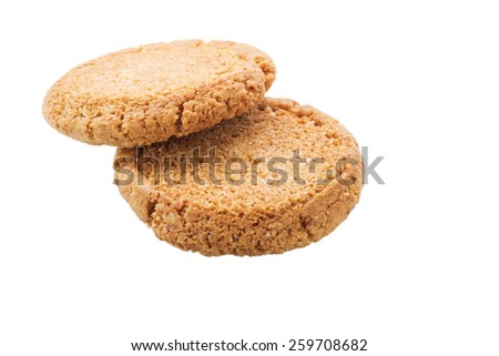 Pastry biscuits isolated on white background