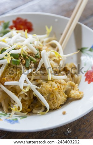 Pat Thai,Popular food,spicy ,thailand food - stock photo