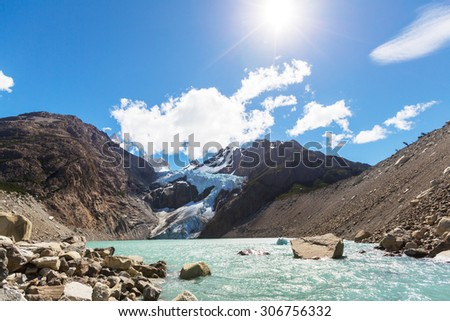 Patagonia landscapes in Argentina - stock photo