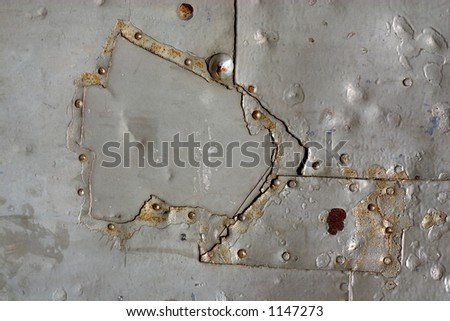 patched metal texture - stock photo