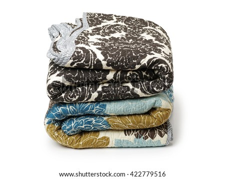patchwork quilt on white background