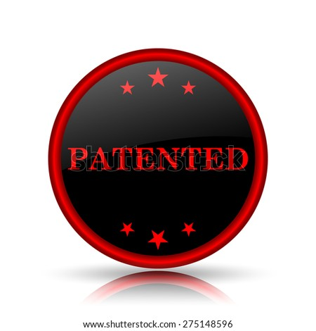 patended icon. Internet button on white background.  - stock photo