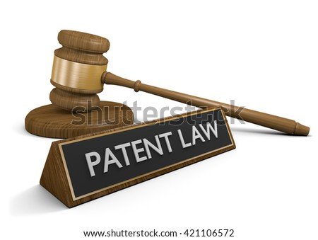 Patent laws for protecting intellectual property, 3D rendering - stock photo
