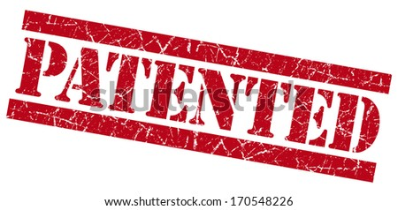 Patented grunge red stamp - stock photo