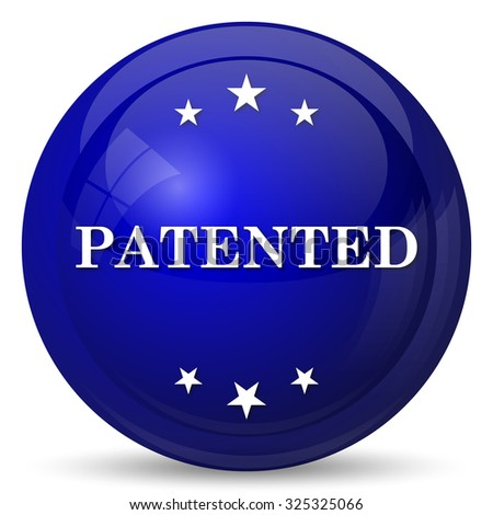 Patented icon. Internet button on white background.