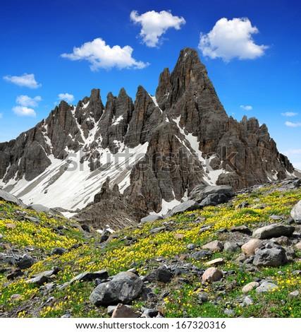 Paternkofel , Dolomite Alps , Italy  - stock photo
