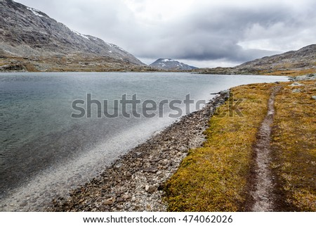 path in the Norwegian Mountains