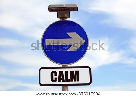 Path to inner calm, peace, happiness and love - stock photo