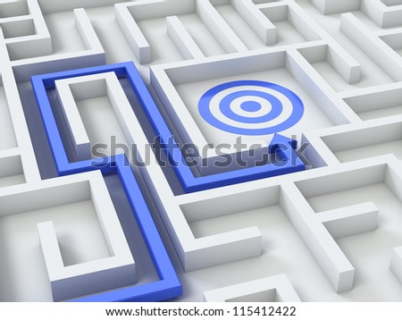 Path to target - stock photo
