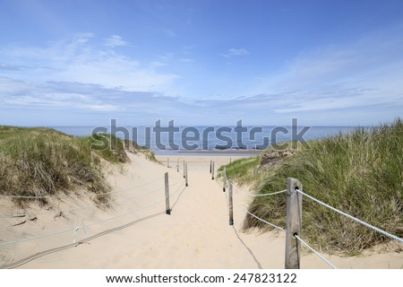 Path to the Beach in Summer - stock photo