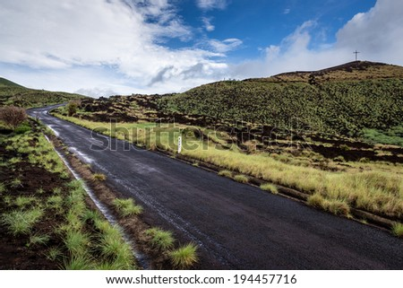 Path to Volcan Masaya - stock photo