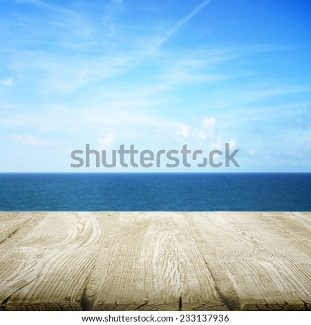 Path wooden on the beach - stock photo