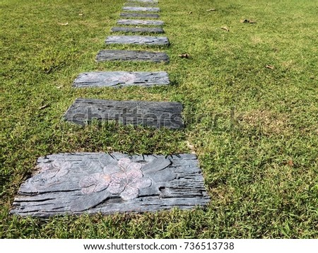 Stones In The Garden Pathway garden stepping stones grass lawn stock photo edit now pathway in the garden stepping stones in the grass lawn the way to success workwithnaturefo