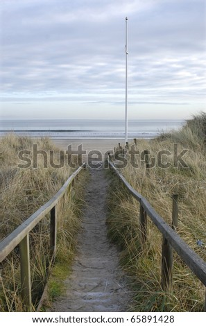 "Pathway to West Sands from ""Old Course"", St.Andrews, Fife, Scotland"