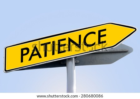 patience word on yellow roadsign concept - stock photo