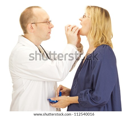 Patient at a dentist - stock photo