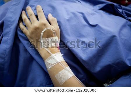 Patient hand - stock photo