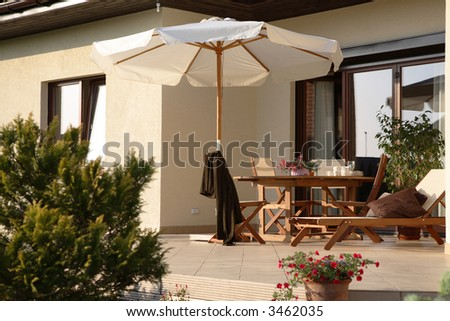 Patio - stock photo