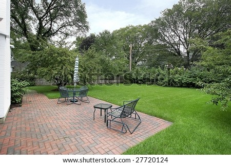 Patio with chairs - stock photo