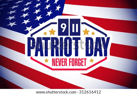 patriot day flag background illustration design graphic - stock photo