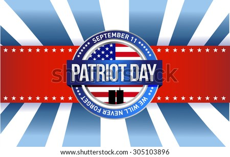 patriot day seal sign illustration design graphic background - stock photo