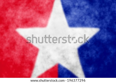 Patriotic abstract red white and blue background with star - stock photo