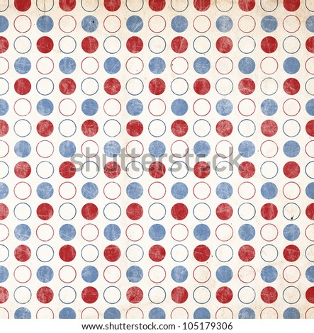 Patriotic Background - Red and Blue Circles - stock photo