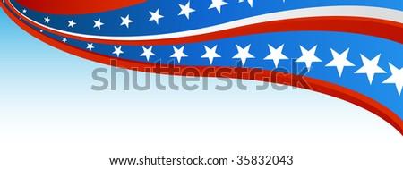 Patriotic Flag Banner - stock photo