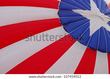 Patriotic hot air balloon design. - stock photo