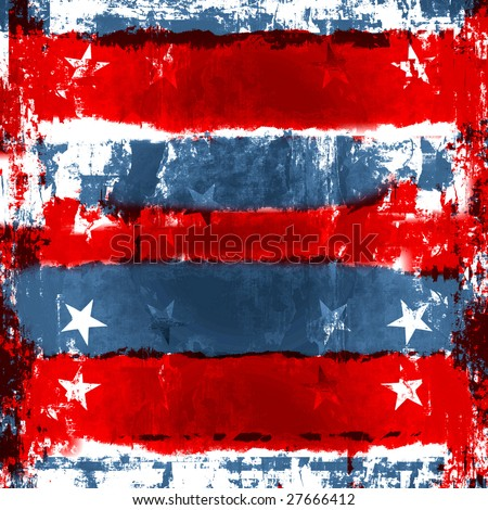 Patriotic Red, White, And Blue Background, Also Vector Is Available - stock photo