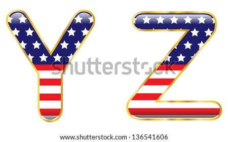 Patriotic YZ - stock photo