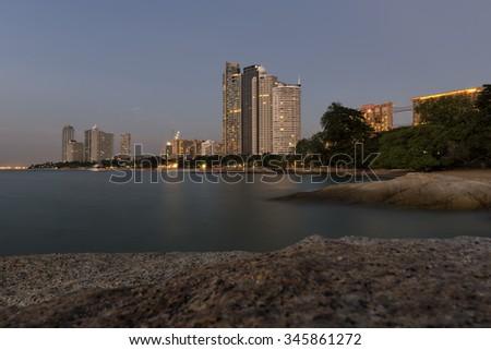 Pattaya  cityscape seaside , Thailand . - stock photo