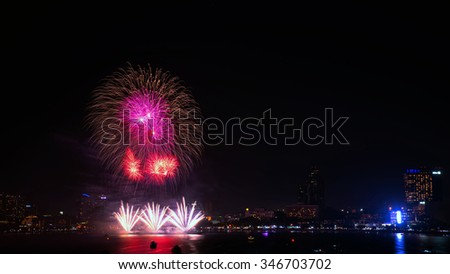 Pattaya International Fireworks Festival 2015.