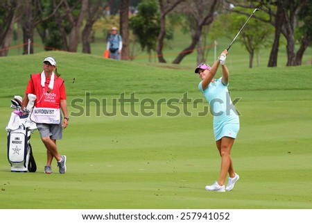 PATTAYA, THAILAND - March 2: Anna Nordqvist of Sweden plays the shot during four of the 2015 LPGA Thailand at Siam Country Club in Chonburi, Thailand on March 2, 2015.