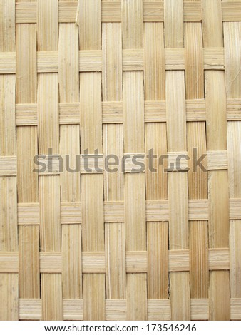 Pattern and design of Thai style bamboo handcraft
