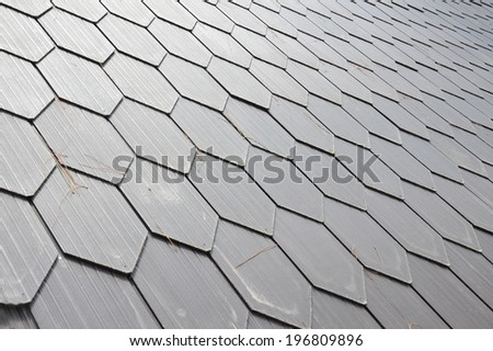 pattern and texture of  wooden roof - stock photo