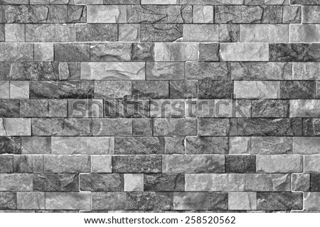Pattern beautiful stone for background, marbled, Black and white style - stock photo