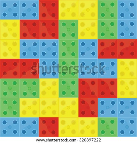 Pattern colorfull building blocks lego, blue, green, yellow and red,  - stock photo