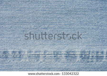 Pattern denim fabrics with seams. - stock photo